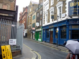Great Windmill Street from Ham Yard