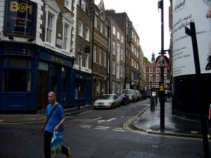 Archer Street from Ham Yard