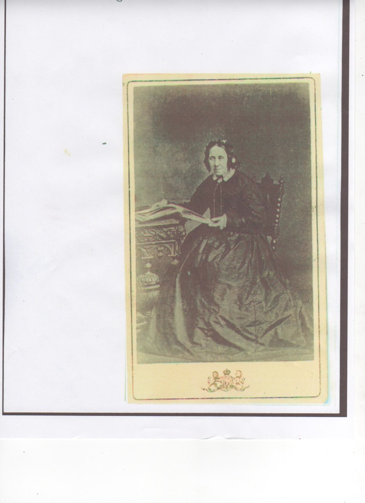 A photograph believed to be of Eliza Roe in old age