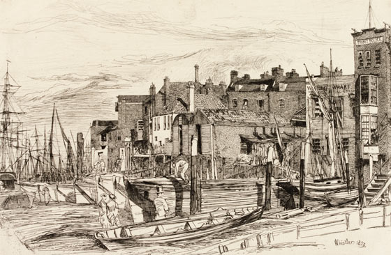 Wapping Wapping-1859-whistler-sketch