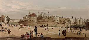 Tower Hill in the late 17th century