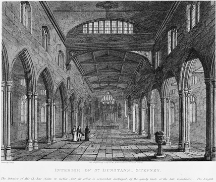 Interior of St Dunstan's, Stepney