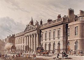 East India House, headquarters of the East India Company