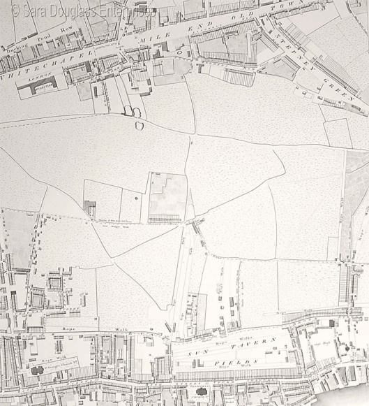 Mile End Old Town, from Horwood's map of 1792
