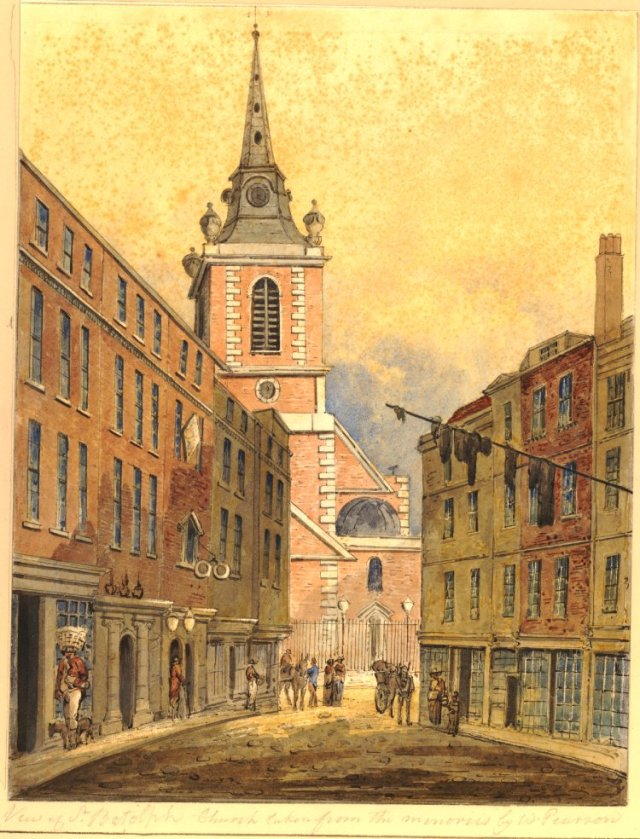 St Botolph, Aldgate (from London Lives website)