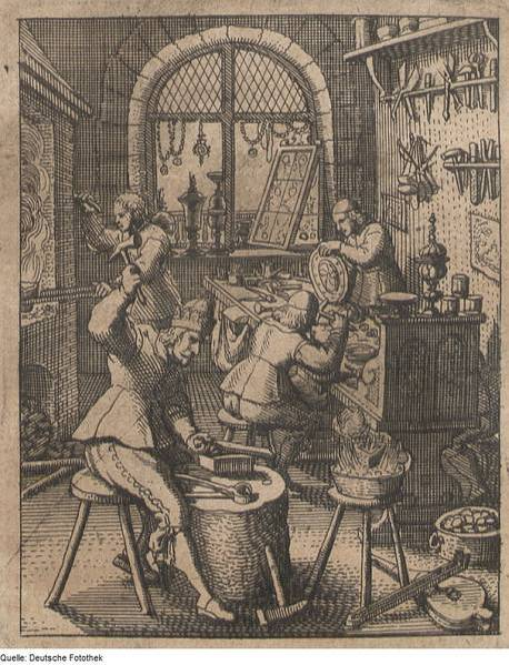 Seventeenth-century goldsmiths at work