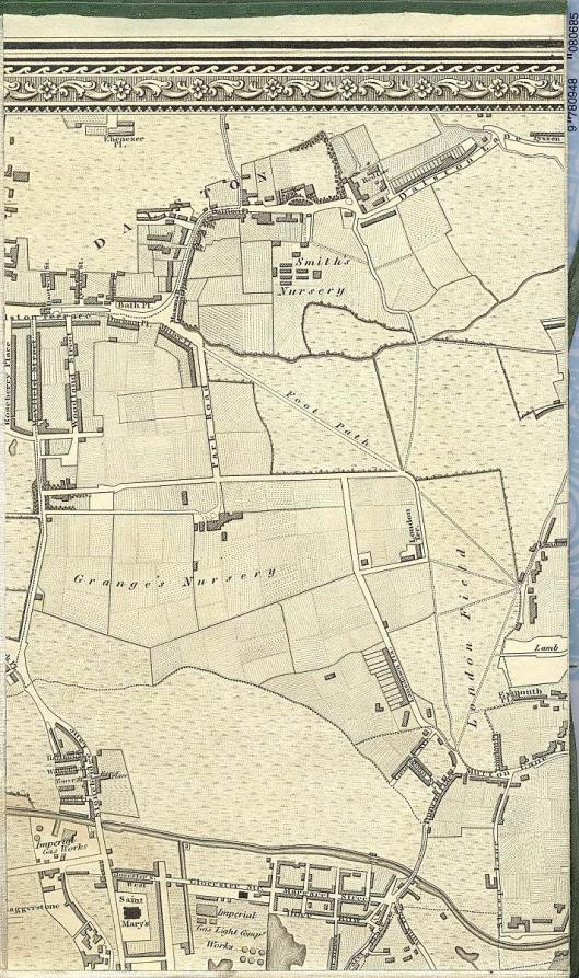 Dalston in Greenwood's 1827 map