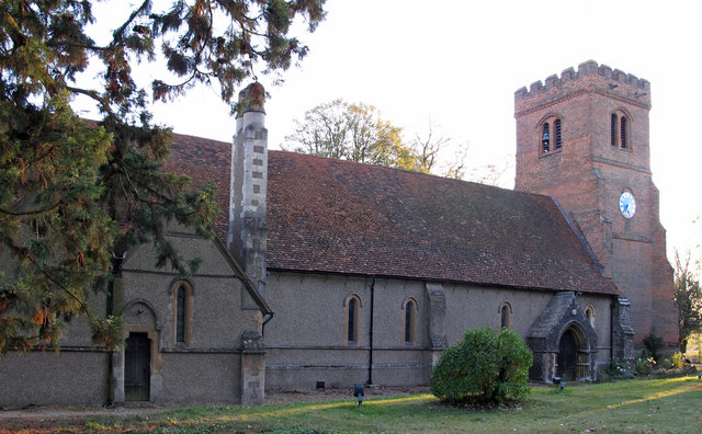 The ancient parish church of All Saints, Epping Upland