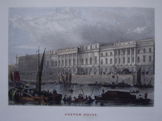Custom House, London, in about 1840