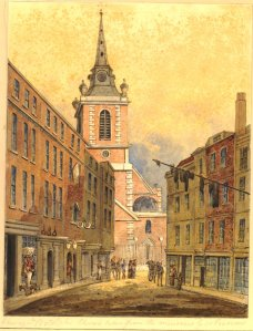 St Botolph, Aldgate, from the Minories