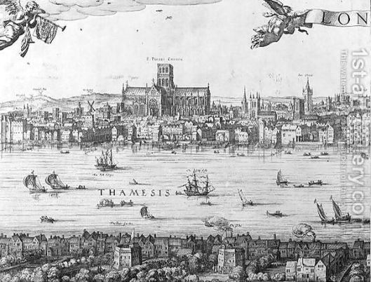 The Thames at London in the 17th century