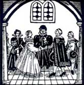 Early 17th century wedding (woodcut)