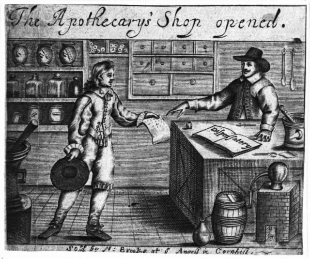 Seventeenth-century apothecary's shop