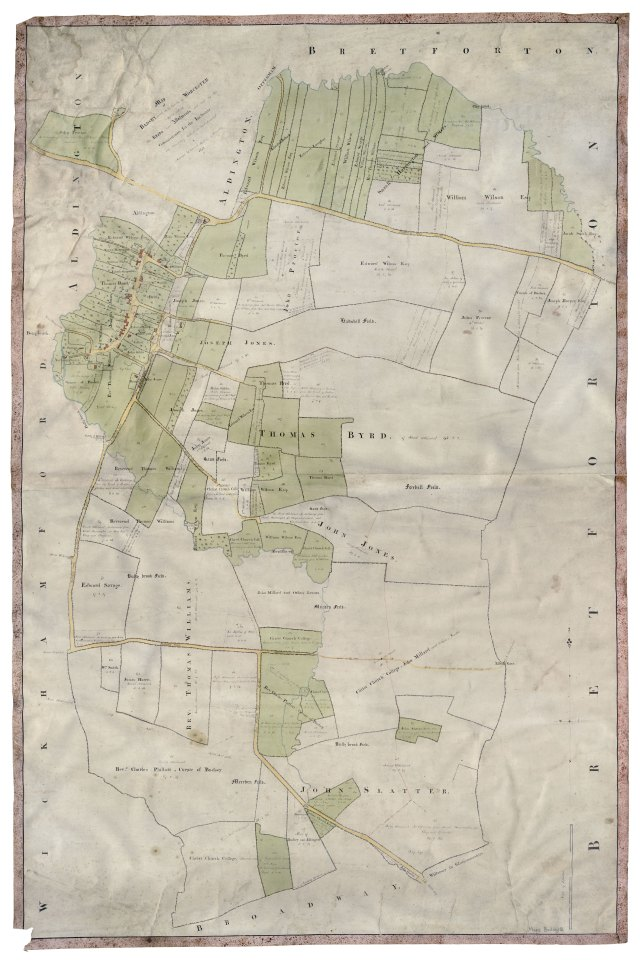 Enclosure map of Badsey, Worcestershire
