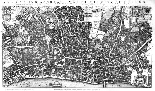 Ogilby and Morgan's map of the City of London, 1677