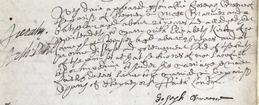 JOSEPH GREENE ALLEGATION 1641