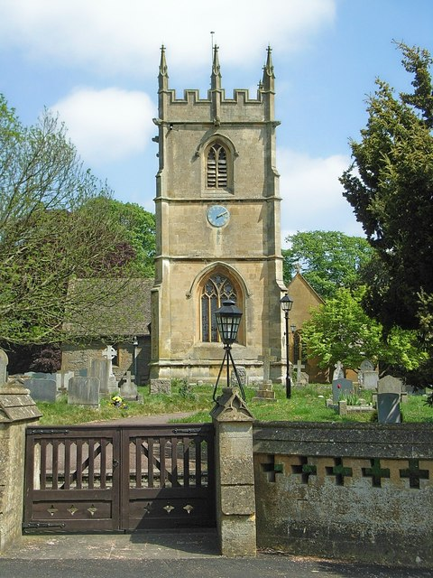 The parish church of St James in the village of Badsey, Worcestershire, where Alice Byne owned a meadow
