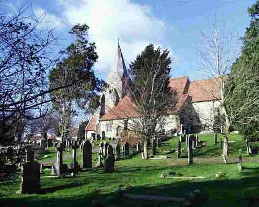 Burwash churchyard (via www.hebdens.com)