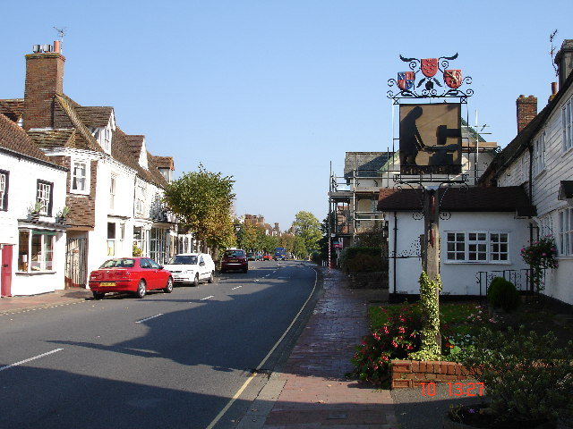Burwash village today, via geography