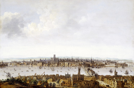 London from Southwark, 17th century