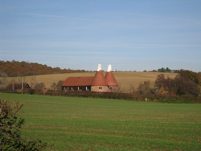 Oast houses in Mayfield, Sussex