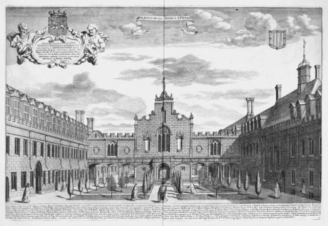 Peterhouse, Cambridge in the 17th century (via flickr.com)