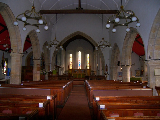 Interior of St Bartholomew's church, Burwash