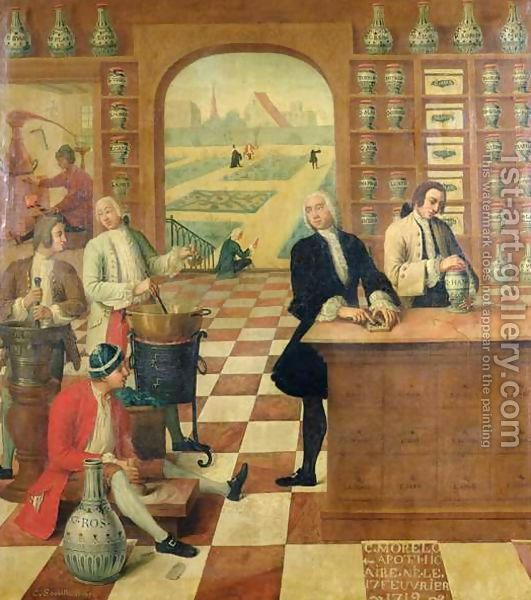 An apothecary in his shop (early 18th century)
