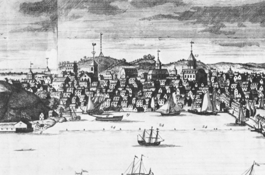 Ships in Boston harbour, 1723