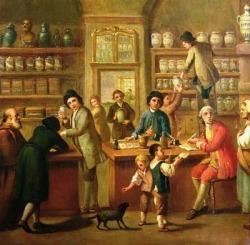 An apothecary's shop