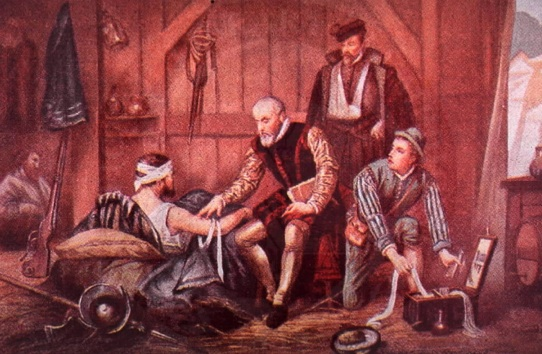 Barber-surgeon at work