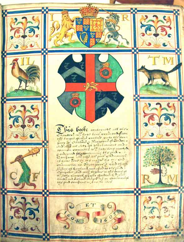 The Charter Book of the Company of Barbers and Surgeons, begun in 1605 (via barberscompany.org)