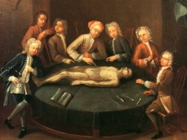 18th century surgery demonstration
