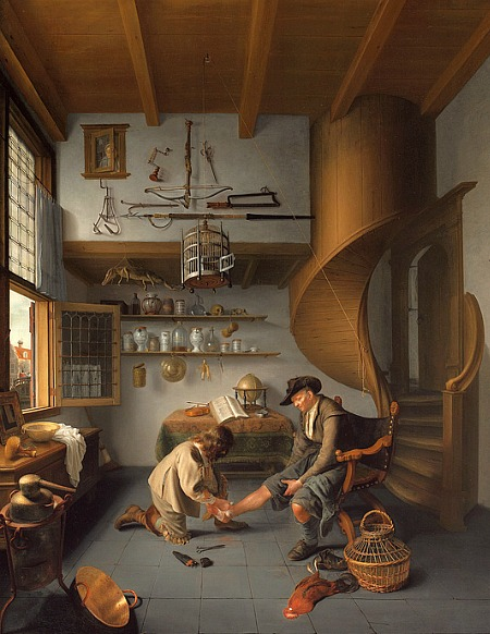 'Barber-Surgeon Tending a Peasant's Foot', Isaack Kodijek, 1649-50