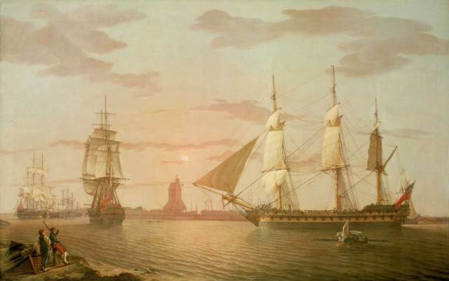 A ship of the East India Company at Blackwall