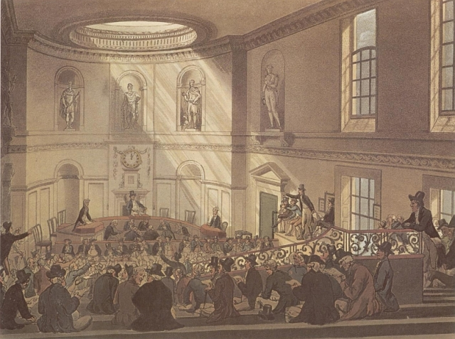 The East India Company, by Thomas Rowlandson (1808)