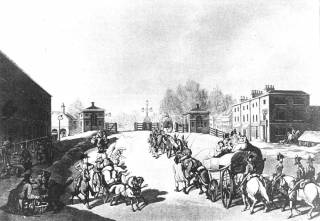 Mile End Old Town in the 18th century