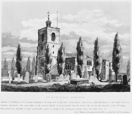 St Dunstan's, Stepney (George Shepherd, 1818)