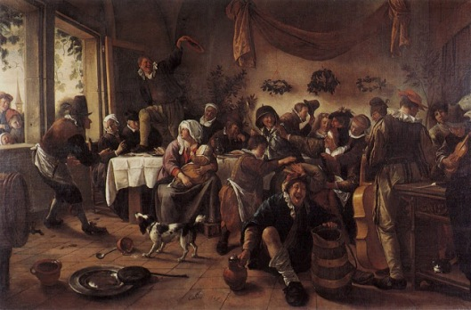 'The Wedding Party', Jan Steen, 1667