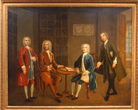 The Four Bath Worthies (Anonymous, c. 1735) via buildingofbathcollection.org.uk