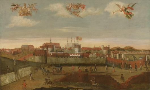 Tower of London and Tower Hill in late 17th century (Johann Spilberg II) (via http://www.gac.culture.gov.uk)