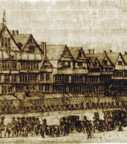 A procession in Cheapside