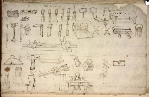 17th century joiner's tools (via pfollansbee.files.wordpress.com)