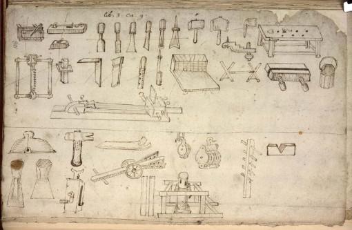 17th century joiner's tools (via pfollansbee.files.wordpress.com)