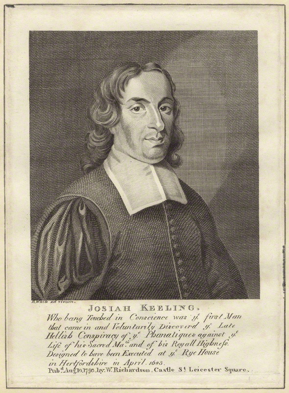 Josiah Keeling by Robert White, National Portrait Gallery