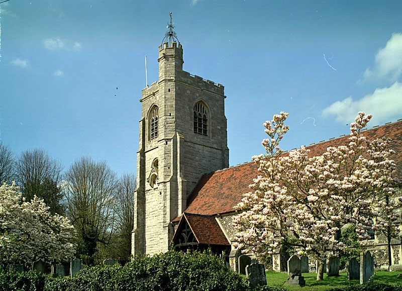 Parish church of St Peter, South Weald, where the Holdsworth siblings were christened (via photoanswers.co.uk)