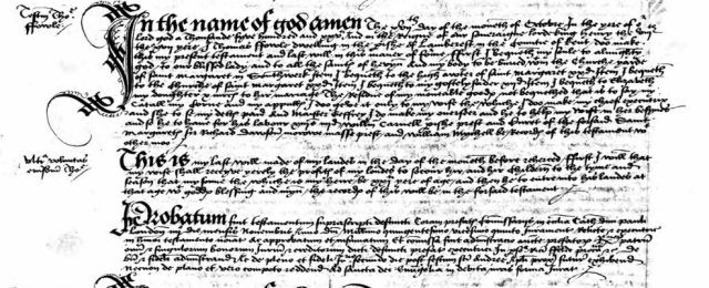 The last will and testament of Thomas Fowle (1525)