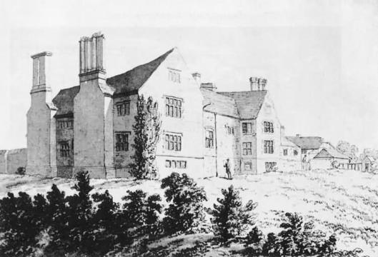 Riverhall, Wadhurst, home of the Fowle family, in the 18th century, via theweald.org