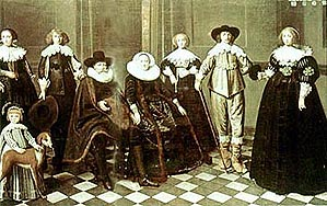 Elizabethan merchant and family