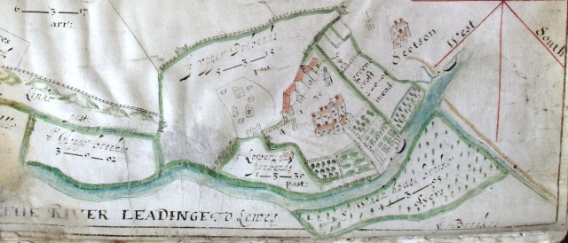 1622 map of Malling showing the Scotson family residence